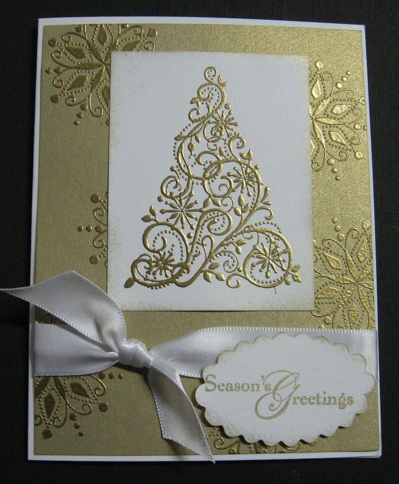 Snow Swirled Gold
