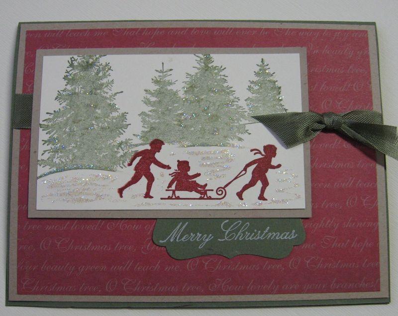 Welcome Christmas Sledding Kids