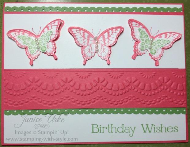 1 card -Birthday Butterfly